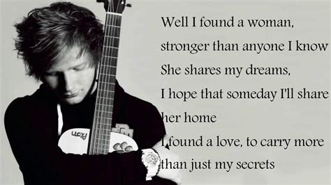 testo you found me ed sheeran lyrics