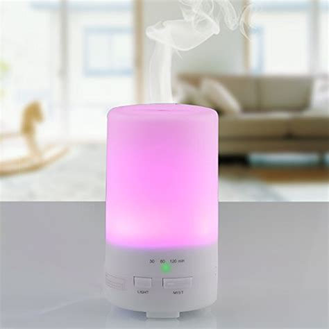 H05 Essential Aroma Humidifier 7 Colors Mood Light Led L 400ml usb essential diffuser innogear 174 50ml computer portable mini ultrasonic cool mist aroma
