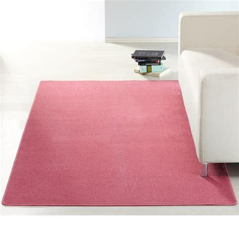 teppich rosa blau design kurzflor teppich uni einfarbig rot gr 252 n rosa