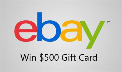Win A Ebay Gift Card - win free ebay gift card balance of 500 right now february 2017