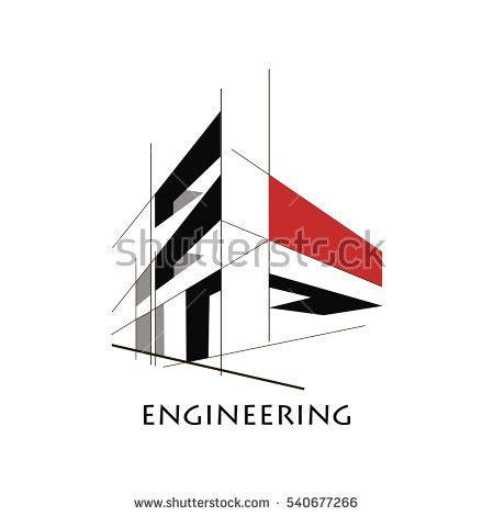 design concept construction design concept construction flat style lines stock vector