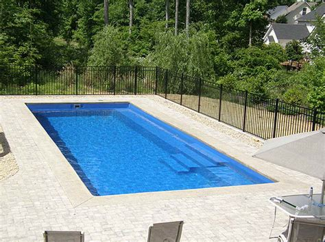 small swimming pool cost outdoor small inground swimming poolswith black fences