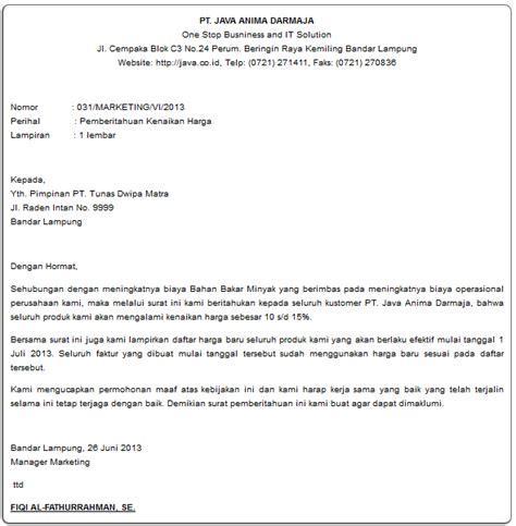 contoh surat jawaban balasan komplain pengaduan barang