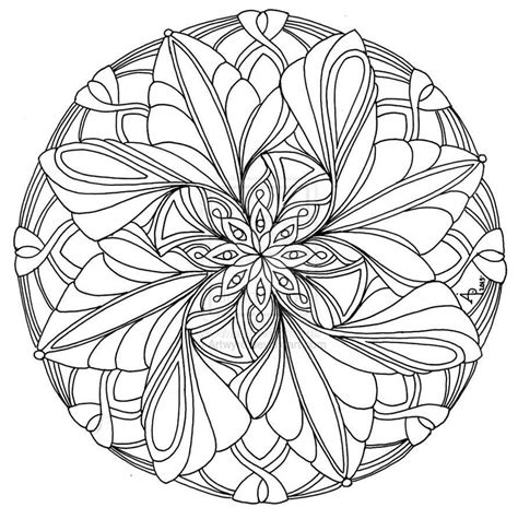 mandala coloring pages for adults printable mandala coloring pages advanced level printable az