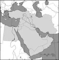 middle east outline map size