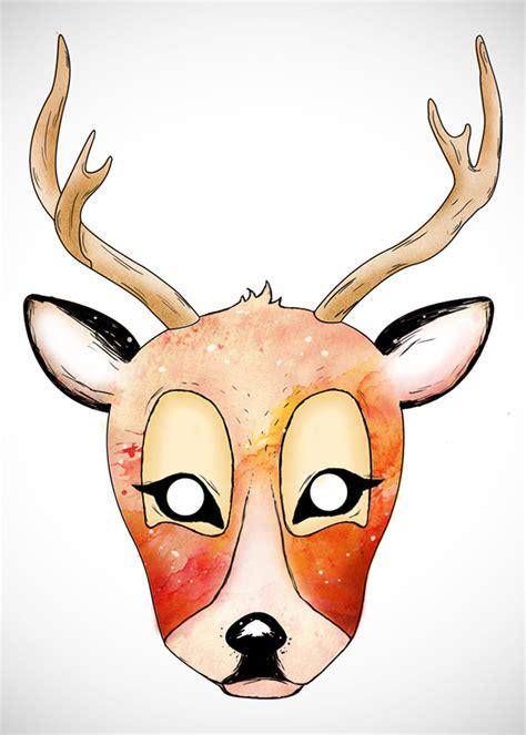 printable mask of deer deer mask on behance
