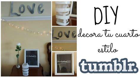 decorar tu cuarto tumblr decora tu cuarto diy inspirado por tumblr youtube