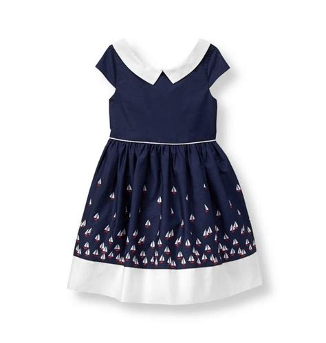 sailboat dress girl navy sailboat dress by janie and jack