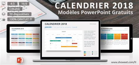 Modèle Calendrier Powerpoint