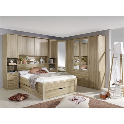 Oak Overbed Wardrobe Systems Fitted Bedroom Furniture Overbed Fitted Wardrobes Bedroom Furniture