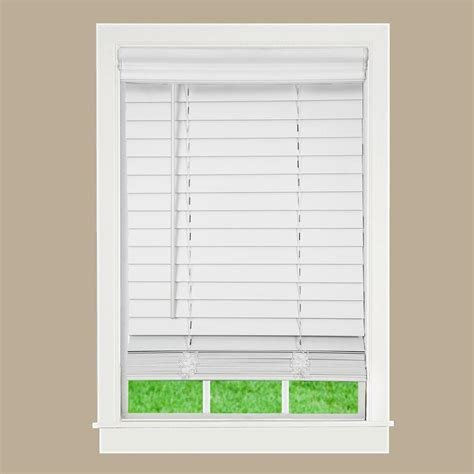 home decorators collection premium faux wood blinds home decorators collection white 2 1 2 in premium faux