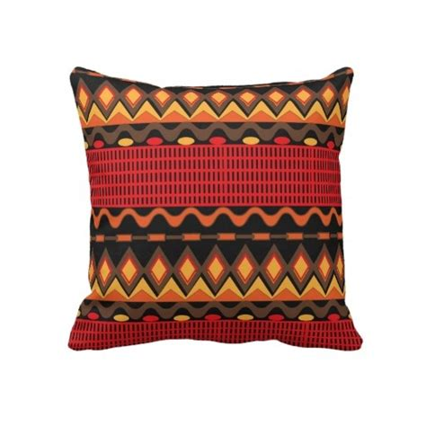 brown patterned cushions orange brown tribal patterned throw pillows
