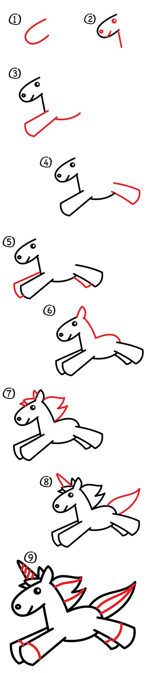 unicorn step by step how to draw a unicorn for