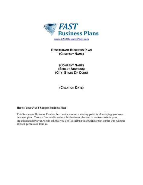 business plan format slideshare restaurant business plan template