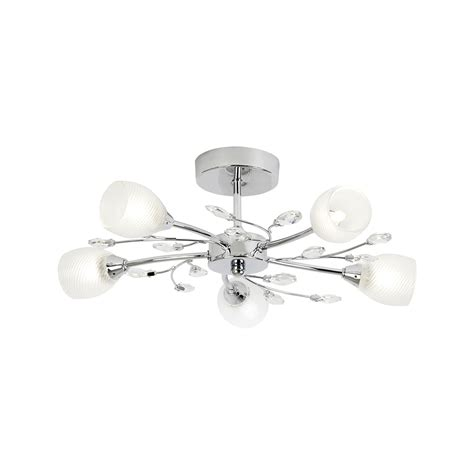 5 Light Ceiling Light by Endon Douglas 5ch 5 Light Polished Chrome Semi Flush Ceiling Light Lighting From The Home