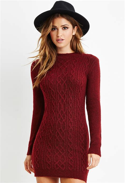 knitted sweater dress forever 21 cable knit sweater dress you ve been added to