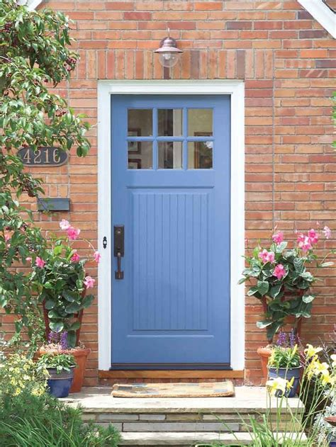 Blue Exterior Door Periwinkle Blue Front Doors Front Door Freak