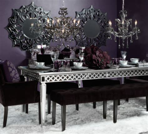 mirrored dining table from z gallerie dining room