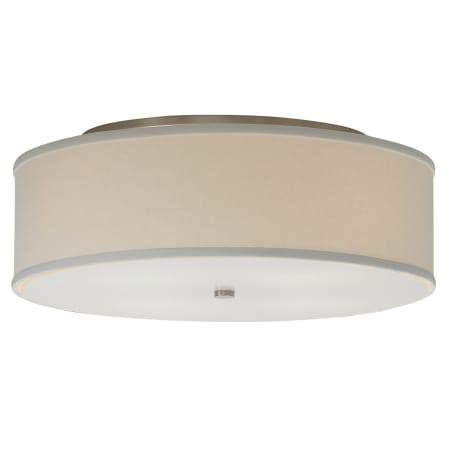 Tech Lighting Fixtures Tech Lighting 700tdmulfmlws Satin Nickel Mulberry Large White Fabric Shade Semi Flush