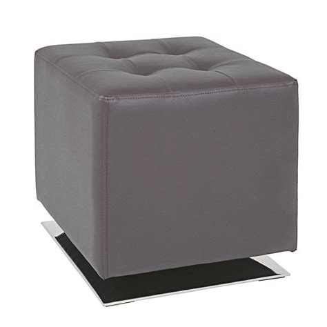 Brown Faux Leather Stool by Beto Brown Faux Leather Stool 30888