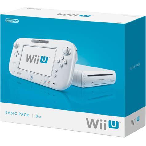 wii u console wii u console 8gb basic pack white consoles