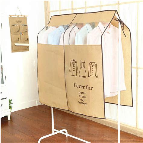 Cloth Dust Cover Pakaian Hanger Bag Organizer Yax wardrobe hanging suit clothing overcoat dust cover garment storage bag organizer us202