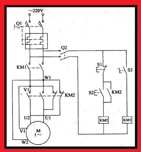 forward single phase motor wiring diagram