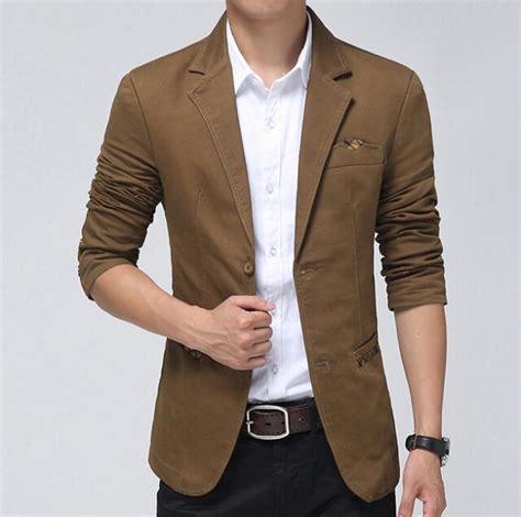 Jaket Jas Blazer Black Style Black casual blazer khaki brown black fashion slim mens