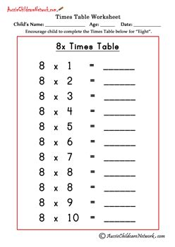8 Times Tables by 9 And 8 Times Tables Descargardropbox