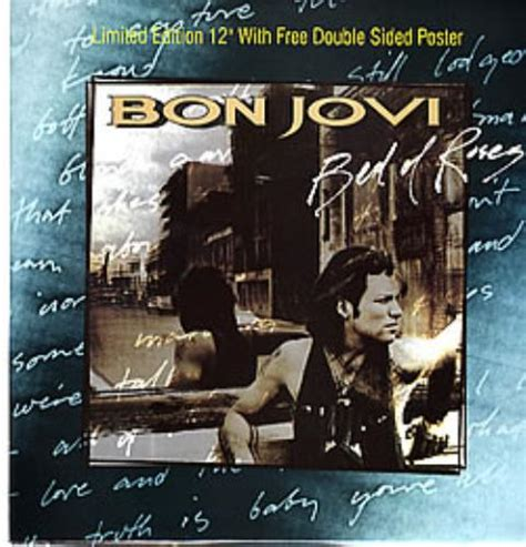 bed of roses bon jovi bon jovi bed of roses poster uk 12 quot vinyl single 12 inch record maxi single 12246