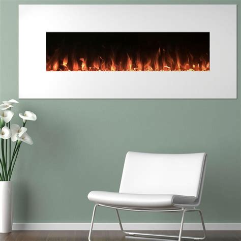 electric in wall fireplace northwest 50 in electric fireplace color changing wall in white 80 wsg02 the home depot