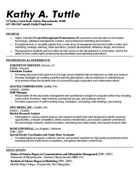 Resume Profile Exles For College Students 32 Best Images About Resume Exle On