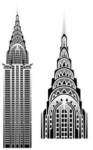 Chrysler Building Architectural Drawing Chrysler Building Nyc Http Www Stencilkingdom