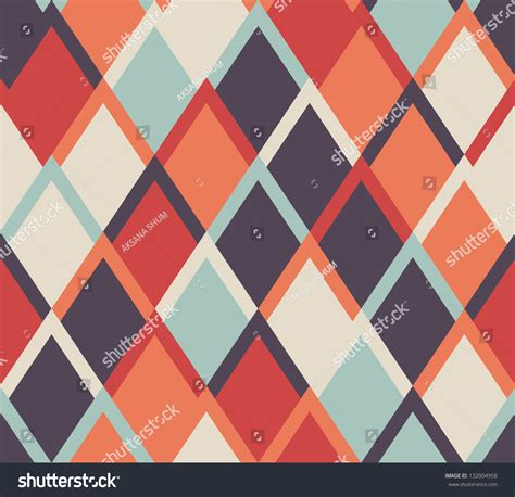 pattern background color seamless vector geometric rhombus color pattern stock
