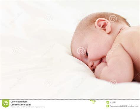 baby sleep bed baby sleeping in bed stock image image 9817381
