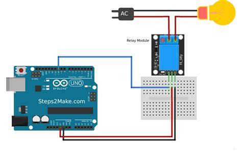 arduino code for relay arduino 5v relay module ky 019 steps2make