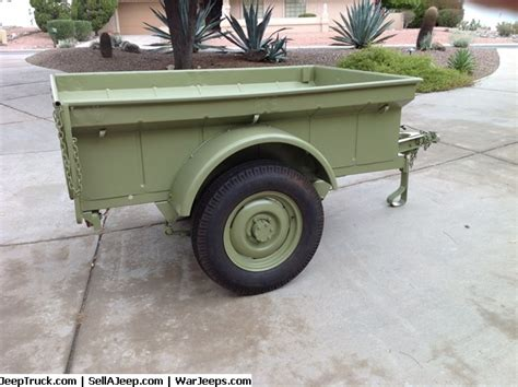 Bantam Jeep Trailer For Sale Bantam Trailer T3 C Serial 11413 Just Painted Replaced