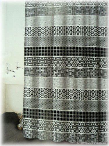grey fabric shower curtain new french black white grey print designer fabric bath
