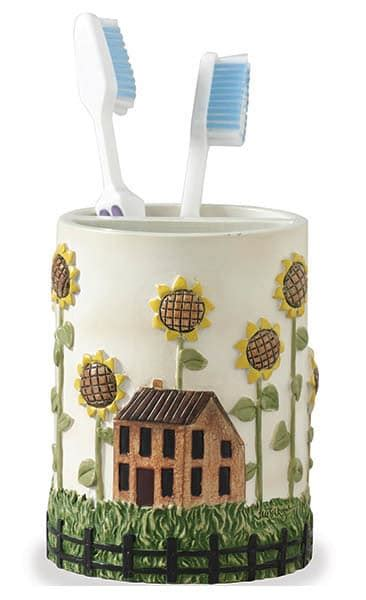 sunflower bathroom accessories house sunflower toothbrush holder sunflower bathroom