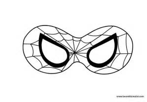 best photos of printable eye mask template spider man