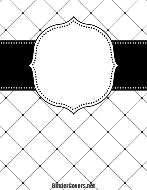 free printable binder covers black and white printable black and white lattice binder cover