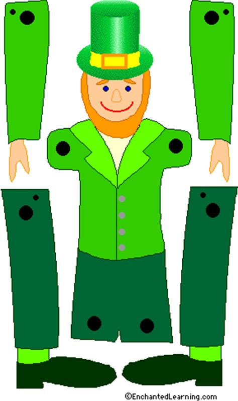 color leprechaun template enchantedlearning com