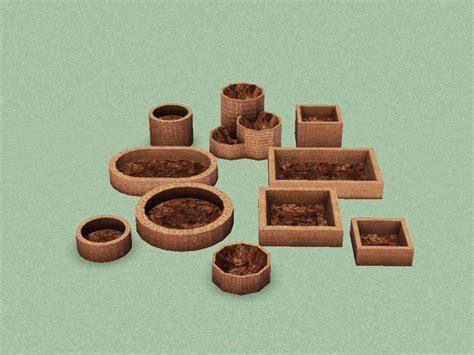 Sims 3 Planter Box by D2diamond S Boxed Planters Set