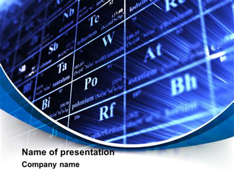 chemical periodic table presentation template for