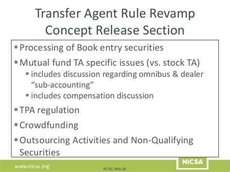 federal securities laws selected statutes and forms books nicsa webinar sec transfer rule rev