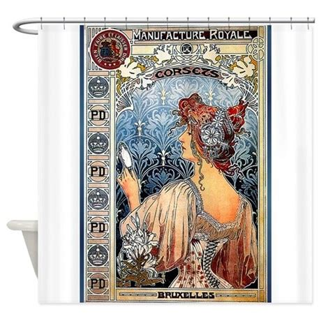 art nouveau curtains art nouveau shower curtain by the jersey shore store