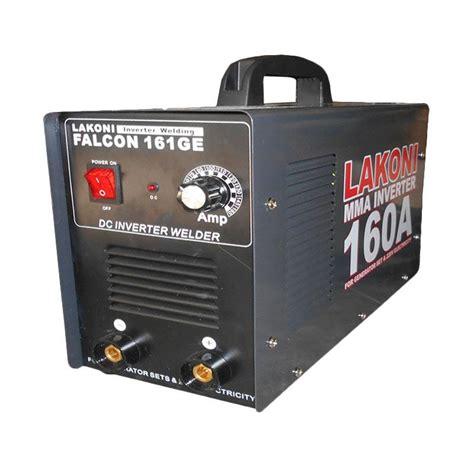 Mesin Las Sepatu jual lakoni falcon 161ge mma genset mesin las inverter hitam harga kualitas