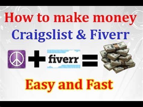 Make Easy Money Online From Home - how to make money online on craigslist and fiverr easy way to make money from home