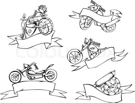 Template Vorlagen Motorrad Vorlagen Mit B 228 Ndern Vektorgrafik Colourbox
