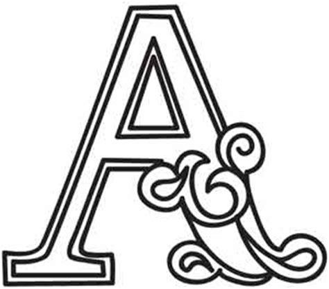 Cirque Letter A | Urban Threads: Unique and Awesome ... Free Black And White Clip Art Letters